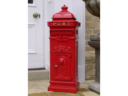 Large Victorian Styled Free Standing Post Box Red